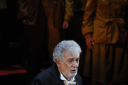 In this handout image provided by the Barcelona Opera House, Placido Domingo performs during the 50th Anniversary of his debut at Liceu Barcelona on April 23, 2016 in Barcelona, Spain.
