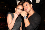 She puts her first up with Mario Lopez. - Jennifer Lopez's Celebrity Friends