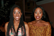 WNBA player Nneka Ogwumike (L) and Chiney Ogwumike attend The Players' Tribune Hosts Players' Night Out 2017 at The Beverly Hills Hotel on July 11, 2017 in Beverly Hills, California.