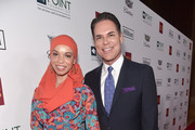 Blair Imani poses with Jorge Valencia, Executive Director & CEO of Point Foundation, at Point Foundation?s Point Honors gala at The Beverly Hilton Hotel on October 13, 2018 in Beverly Hills, California.