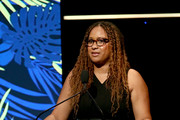 Tracie Thoms speaks onstage during Point Honors Los Angeles 2019, Benefitting Point Foundation at The Beverly Hilton Hotel on October 12, 2019 in Beverly Hills, California.