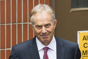 Former British Prime Minister Tony Blair leaves Westminster Tower on June 24, 2016 in London, United Kingdom. The result from the historic EU referendum has now been declared and the United Kingdom has voted to LEAVE the European Union. British Prime Minister David Cameron has today announced he will step down following the result.