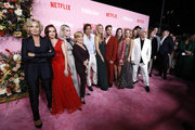 "Jessica Lange, Zoey Deutch, Lucy Boynton, Bette Midler, Brad Falchuk, Gwyneth Paltrow, Ben Platt, Laura Dreyfuss, Julia Schlaepfer, Cindy Holland, and Ryan Murphy attend ""The Politician"" New York Premiere at DGA Theater on September 26, 2019 in New York City."