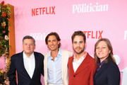 """(L-R) Ted Sarandos, Brad Falchuk, Ben Platt, and Cindy Holland attend Netflix's """"The Politician"""" Season One Premiere at DGA Theater on September 26, 2019 in New York City."""