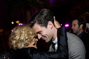 """Jessica Lange (L) and David Corenswet attend Netflix's """"The Politician"""" Season One Premiere After Party at THE POOL on September 26, 2019 in New York City."""