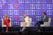 (L-R) Tomi Lahren, Ann Coulter and Guy Benson speak onstage during the 2019 Politicon at Music City Center on October 26, 2019 in Nashville, Tennessee.