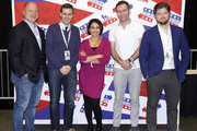 (L-R) David Urban, Guy Benson, Nayyera Haq, Tom Rogan and Buck Sexton attend day 2 of Politicon 2019 at Music City Center on October 27, 2019 in Nashville, Tennessee.
