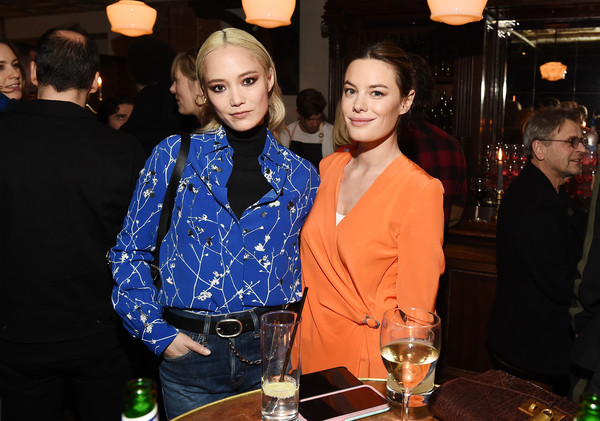 Rag & Bone Celebrates Fall 2019 With A Last Supper [fashion,event,drink,liqueur,distilled beverage,alcohol,leisure,fashion design,party,restaurant,camille rowe,celebrates fall 2019 with a last supper,rag,pom klementieff,bone,collection,new york city,a last supper,celebration]