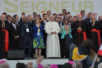 Pope Francis I Pope Attends the Golden Jubilee at the Circo Massimo