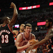 Dante Cunningham and Omer Asik Photos