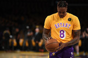 Dwight Howard #39 of the Los Angeles Lakers warms up before the game against the Portland Trail Blazers at Staples Center on January 31, 2020 in Los Angeles, California.