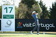 Ross Fisher of England tees off on hole seventeen during Day Two of the Portugal Masters at Dom Pedro Victoria Golf Course on September 21, 2018 in Albufeira, Portugal.