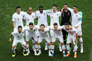 Portugal team pose prior to the 2018 FIFA World Cup Russia group B match between Portugal and Morocco at Luzhniki Stadium on June 20, 2018 in Moscow, Russia.