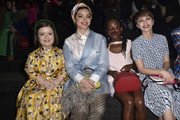Sinead Burke, Noor Tagouri, Amanda Gorman and Tavi Gevinson attend the Prada Show during Milan Fashion Week Fall/Winter 2019/20 on February 21, 2019 in Milan, Italy.