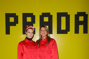 Lena Lademann and Anna Dello Russo attend the Prada Show during Milan Fashion Week Fall/Winter 2019/20 on February 21, 2019 in Milan, Italy.