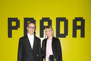 Nicolas Winding Refn and Liv Corfixen attend the Prada Show during Milan Fashion Week Fall/Winter 2019/20 on February 21, 2019 in Milan, Italy.