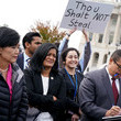 Pramila Jayapal Congressional Democrats Speak at Rally Protesting GOP Tax Bill on Capitol Hill