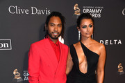 Miguel and Nazanin Mandi attend the Pre-GRAMMY Gala and GRAMMY Salute to Industry Icons Honoring Clarence Avant at The Beverly Hilton Hotel on February 9, 2019 in Beverly Hills, California.