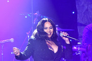 "Faith Evans performs onstage during the Pre-GRAMMY Gala and GRAMMY Salute to Industry Icons Honoring Sean ""Diddy"" Combs on January 25, 2020 in Beverly Hills, California."