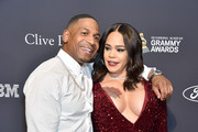 "(L-R) Stevie J and Faith Evans attend the Pre-GRAMMY Gala and GRAMMY Salute to Industry Icons Honoring Sean ""Diddy"" Combs on January 25, 2020 in Beverly Hills, California."