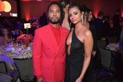 Miguel, and Nazanin Mandi  at the Pre-GRAMMY Gala and GRAMMY Salute to Industry Icons Honoring Clarence Avant at The Beverly Hilton Hotel on February 9, 2019 in Beverly Hills, California.