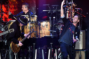 "(L-R) Carlos Santana and Ryan Tedder performs onstage during the Pre-GRAMMY Gala and GRAMMY Salute to Industry Icons Honoring Sean ""Diddy"" Combs on January 25, 2020 in Beverly Hills, California."