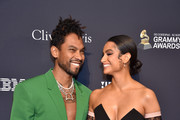 """Miguel and Nazanin Mandi attend the Pre-GRAMMY Gala and GRAMMY Salute to Industry Icons Honoring Sean """"Diddy"""" Combs on January 25, 2020 in Beverly Hills, California."""