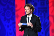 Draw assistant Diego Forlan during the at South American Zone Draw the Preliminary Draw of the 2018 FIFA World Cup in Russia at The Konstantin Palace on July 25, 2015 in Saint Petersburg, Russia.