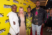 """Lupita Nyong'o, Elisabeth Moss, Shahadi Wright Joseph, and Winston Duke attends the """"Us"""" Premiere 2019 SXSW Conference and Festivals at Paramount Theater on March 08, 2019 in Austin, Texas."""