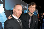 """Actors Matt Gerald (L) and Joel Moore arrive at the premiere of 20th Century Fox's """"Avatar"""" at the Grauman's Chinese Theatre on December 16, 2009 in Hollywood, California."""