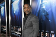 "Sterling K. Brown attends the premiere of 20th Century Fox's ""Breakthrough"" at Westwood Regency Theater on April 11, 2019 in Los Angeles, California."