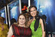 """Mandy Moore (L) and Chrissy Metz attend the premiere of 20th Century Fox's """"Breakthrough"""" at Westwood Regency Theater on April 11, 2019 in Los Angeles, California."""