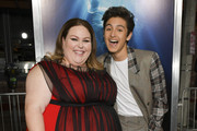 """Chrissy Metz (L) and Marcel Ruiz attend the premiere of 20th Century Fox's """"Breakthrough"""" at Westwood Regency Theater on April 11, 2019 in Los Angeles, California."""