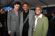 "(L-R) Mark Ronson, Will Smith and Anderson .Paak attend the premiere of 20th Century Fox's ""Spies In Disguise"" at El Capitan Theatre on December 04, 2019 in Los Angeles, California."