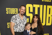"Steve Howey (L) and Sarah Shahi (R) attend the Premiere of 20th Century Fox's ""Stuber"" at Regal Cinemas L.A. Live on July 10, 2019 in Los Angeles, California."