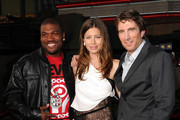"(L-R) Actors Quinton 'Rampage' Jackson, Jessica Biel, Sharlto Copley arrive at the premiere of 20th Century Fox's ""The A-Team"" held at Grauman's Chinese Theatre on June 3, 2010 in Los Angeles, California."