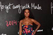 """Aja Naomi King attends the premiere of the series finale of ABC's """"How To Get Away With Murder' at Yamashiro Hollywood on February 08, 2020 in Los Angeles, California."""