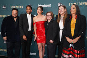 "(L-R) Adrian Martinez, Michael Ealy, Cobie Smulders, Cole Sibus, Camryn Manheim, and Tantoo Cardinal attend the premiere of ABC's ""Stumptown"" at Petersen Automotive Museum on September 16, 2019 in Los Angeles, California."