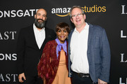 "Amazon Studios Worldwide Head of Motion Pictures Jason Ropell, Cicely Tyson and Amazon Studios Head of Motion Picture Production Ted Hope attend the premiere of Amazon's ""Last Flag Flying"" at DGA Theater on November 1, 2017 in Los Angeles, California."
