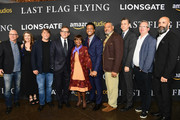 "(L-R) Head of Movie Distribution and Marketing at Amazon Studios Bob Berney, Ginger Sledge,  Richard Linklater, Steve Carell, Cicely Tyson, J. Quinton Johnson, Laurence Fishburne, John Sloss, Amazon Studios Head of Motion Picture Production Ted Hope and Amazon Studios Worldwide Head of Motion Pictures Jason Ropell attend the premiere of Amazon's ""Last Flag Flying"" at DGA Theater on November 1, 2017 in Los Angeles, California."