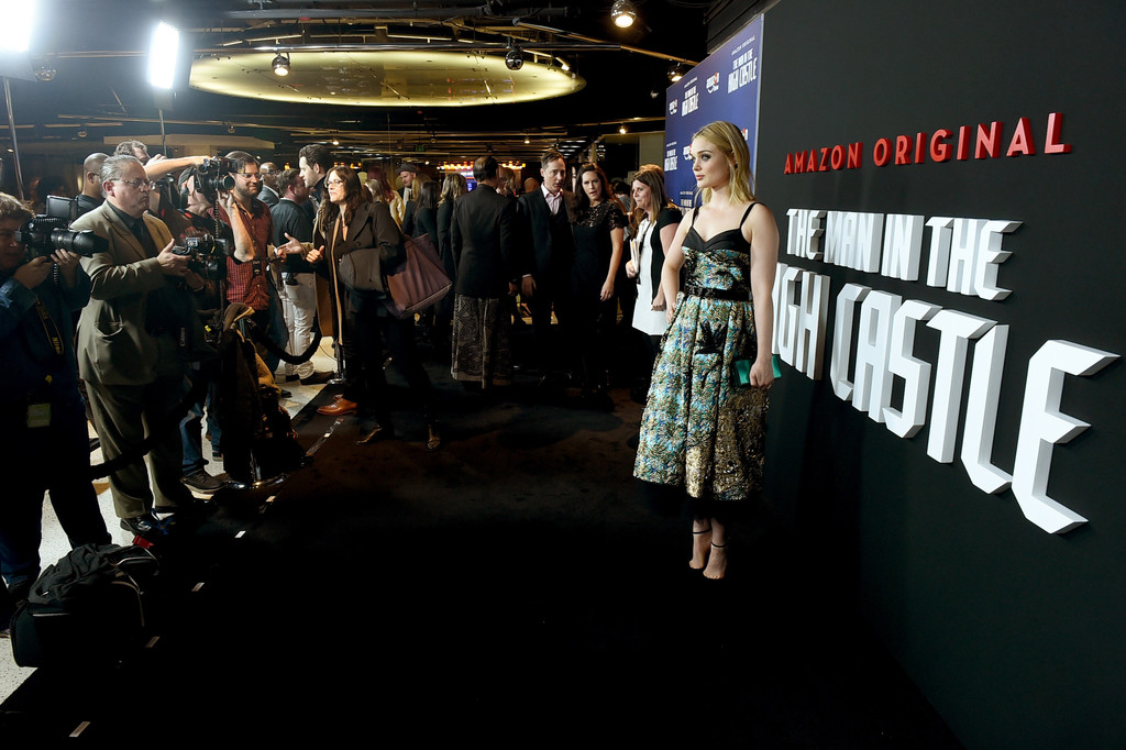 bella heathcote photos photos premiere of amazons man in the high castle season 2 red carpet zimbio