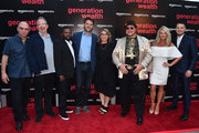 "Bob Berney, Ted Hope, Clifton Magee, Frank Evers, Lauren Greenfield, Limo Bob, Tiffaney Masters and Bobby J attend the premiere of Amazon Studios' ""Generation Wealth"" at ArcLight Hollywood on July 12, 2018 in Hollywood, California."