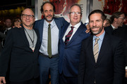 "Bob Berney, Scott Foundas, Luca Guadagnino and Ted Hope attend the premiere of Amazon Studios' ""Suspiria"" at ArcLight Cinerama Dome on October 24, 2018 in Hollywood, California."