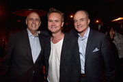 (L-R) Actor Jeffrey Tambor, Head of Amazon Video Roy Price and actor Bradley Whitford attend the after party for the Premiere Of Amazon's 'Transparent' Season 2  at SilverScreen Theater at the Pacific Design Center on November 9, 2015 in West Hollywood, California.