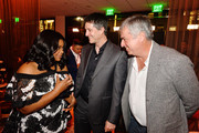 (L-R) Octavia Spencer, Jamie Erlicht and Eddy Cue attend the after party of Apple TV+'s 'Truth Be Told' on November 11, 2019 in Beverly Hills, California.