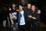 (L-R) Actors Tao Okamoto, Kihiro, director/writer Adam Sherman, and Kentez Asaka attend the premiere of Breaking Glass Pictures' 'She's Just A Shadow' after party at The Spare Room on July 18, 2019 in Hollywood, California.
