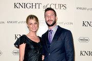 "Model Angela Lindvall (L) and actor Pablo Schreiber attend the premiere of Broad Green Pictures' ""Knight Of Cups"" on March 1, 2016 in Los Angeles, California."