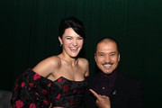 """Isa Briones (L) and her father Jon Jon Briones pose at the after party for the premiere of CBS All Access' """"Picard"""" at The Academy on January 13, 2020 in Hollywood, California."""