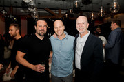 (L-R) Kevin Weaver of Atlantic Records, Mike Caren of APG and Jack McMorrow of Atlantic Records attend the Premiere Of Charlie Puth's new single 'Attention', in partnership with Spotify, Artist Partner Group (APG) and Atlantic Records at THE ATTENTION ROOM on April 19, 2017 in Los Angeles, California.
