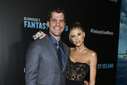 """Jeff Wadlow (L) and Charlotte McKinney attend the premiere of Columbia Pictures' """"Blumhouse's Fantasy Island"""" at AMC Century City 15 on February 11, 2020 in Century City, California."""